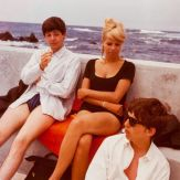 Paul, Astrid, and George on vacation in Tenerife